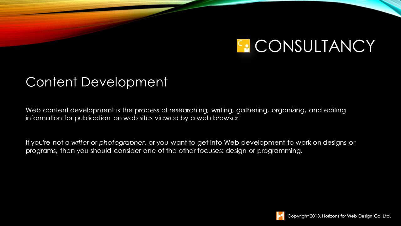 Consultancy Content Development