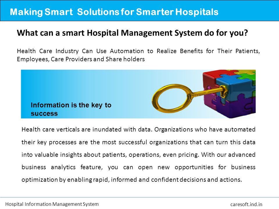 Making Smart Solutions for Smarter Hospitals