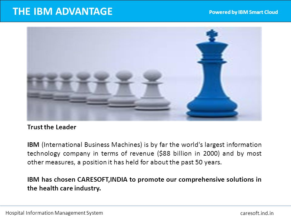 THE IBM ADVANTAGE Trust the Leader