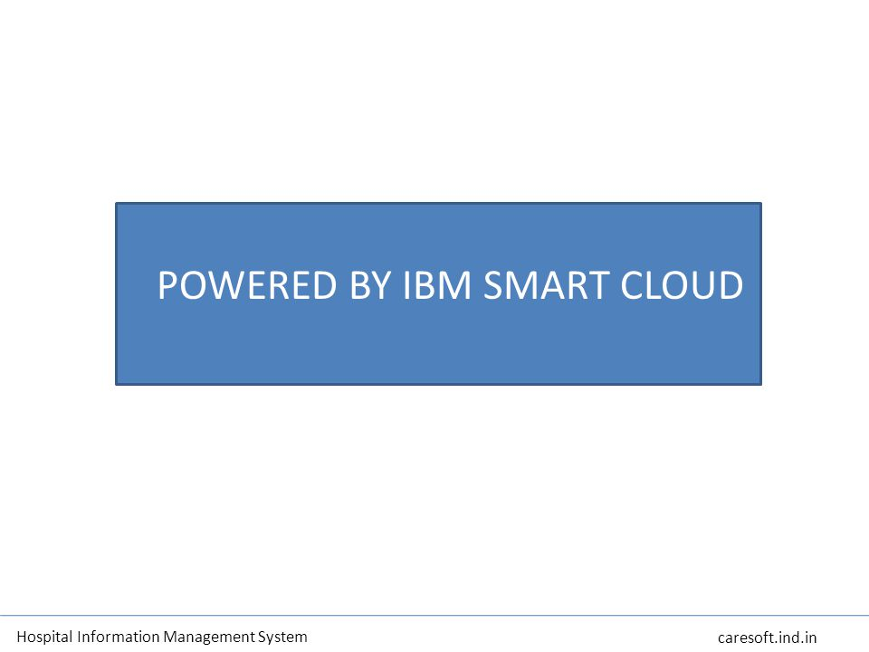 POWERED BY IBM SMART CLOUD