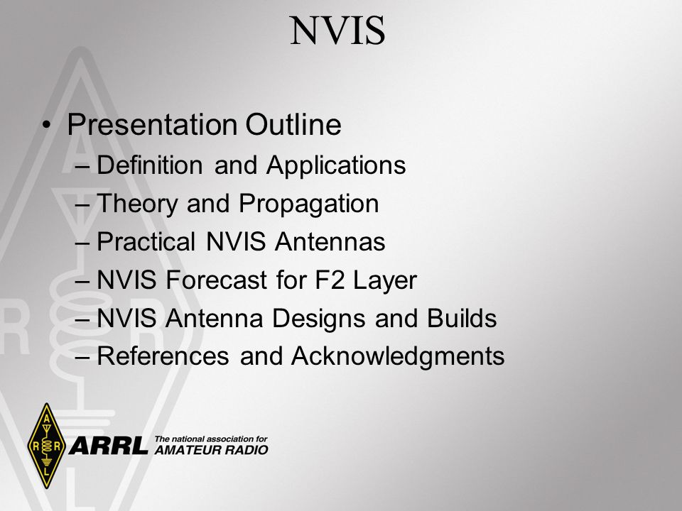 NVIS Presentation Outline Definition and Applications