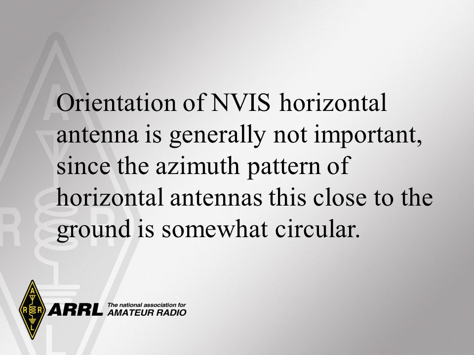 Orientation of NVIS horizontal antenna is generally not important, since the azimuth pattern of horizontal antennas this close to the ground is somewhat circular.