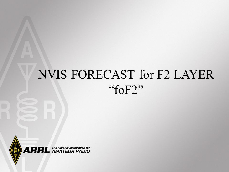NVIS FORECAST for F2 LAYER
