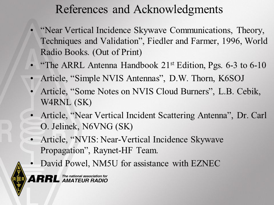 References and Acknowledgments