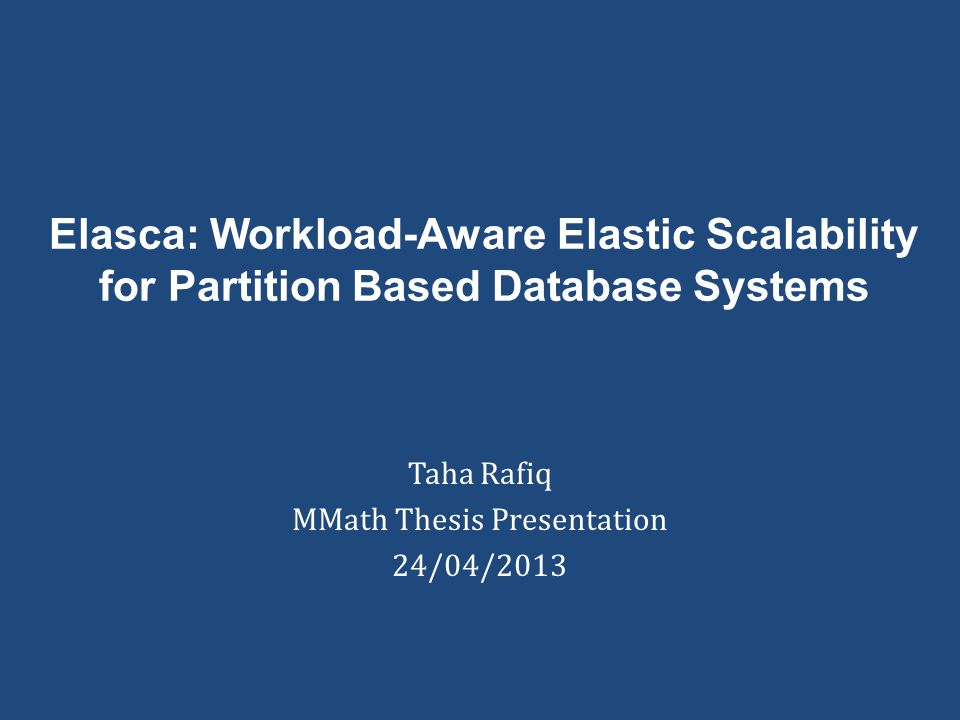 Taha Rafiq MMath Thesis Presentation 24/04/2013