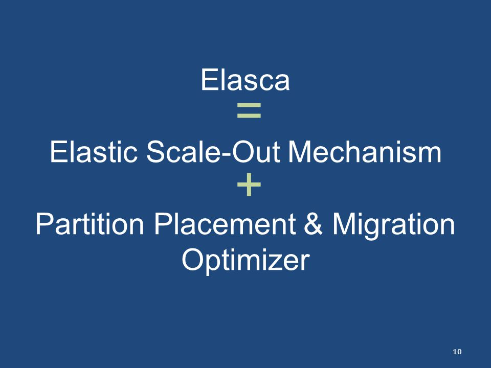 Elasca Elastic Scale-Out Mechanism Partition Placement & Migration Optimizer