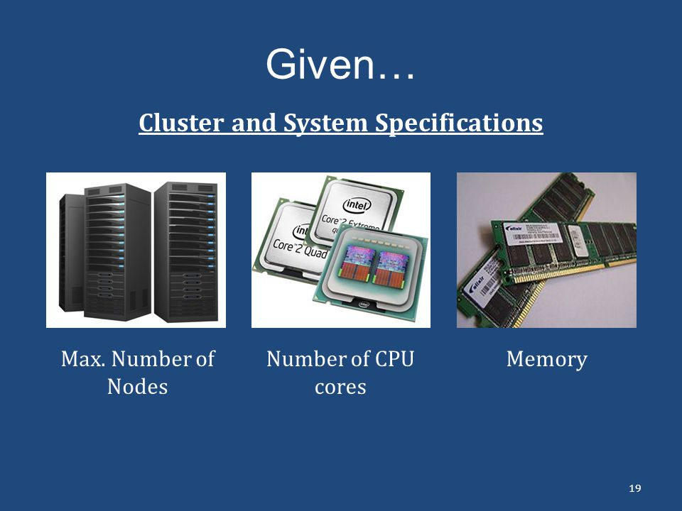 Cluster and System Specifications