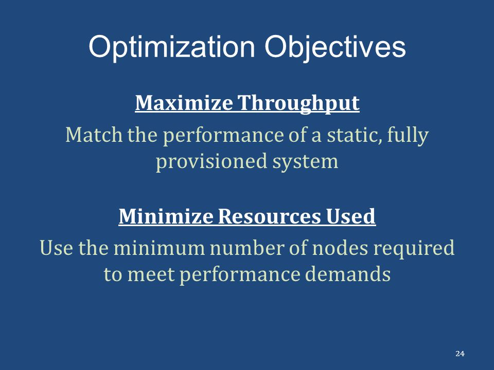 Optimization Objectives