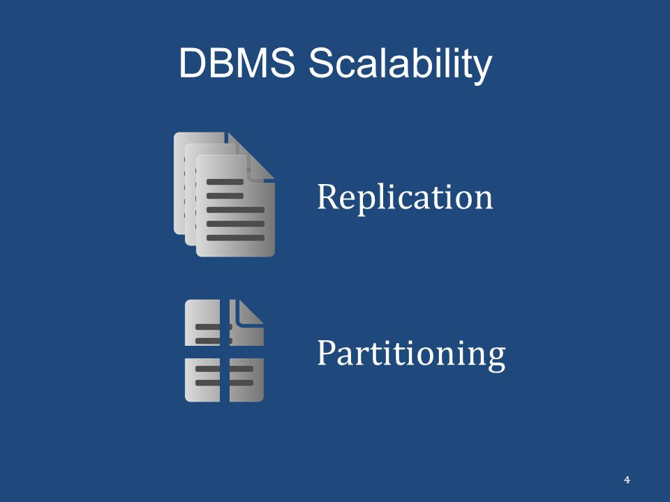 DBMS Scalability Replication Partitioning