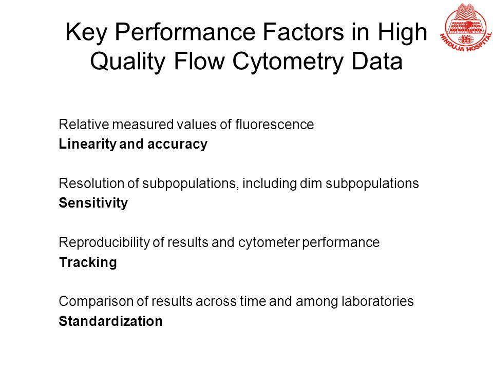 Key Performance Factors in High Quality Flow Cytometry Data
