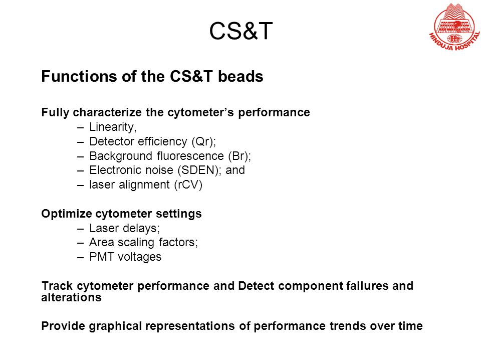 CS&T Functions of the CS&T beads
