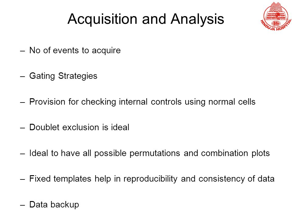 Acquisition and Analysis