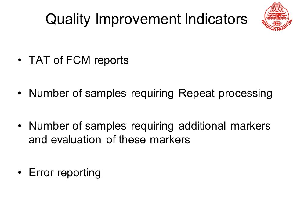 Quality Improvement Indicators