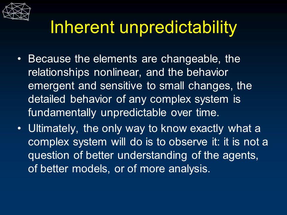 Inherent unpredictability