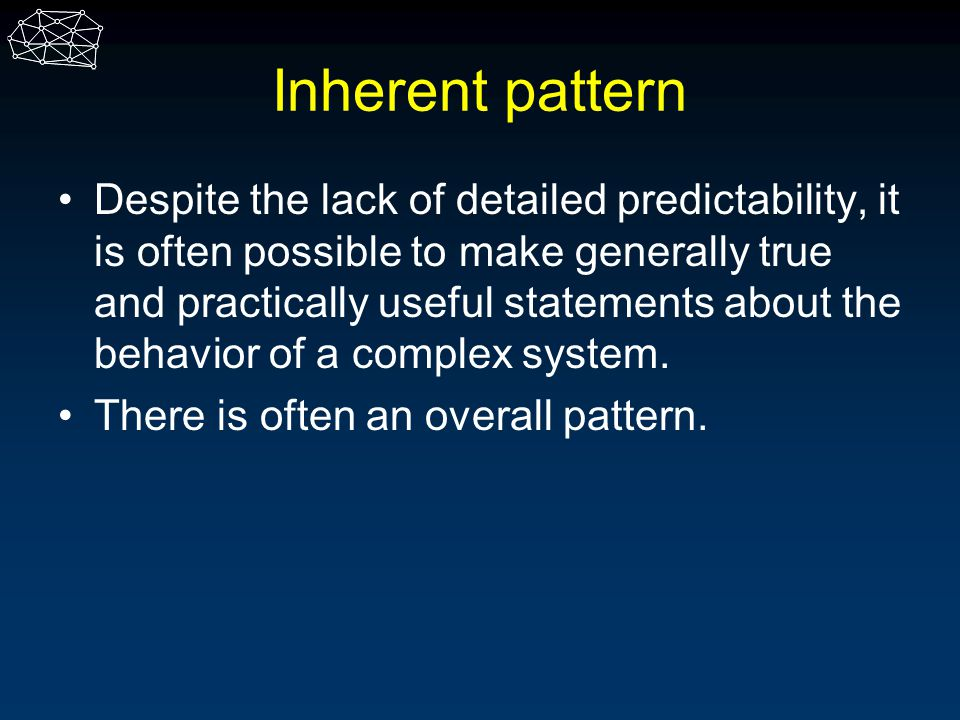 Inherent pattern