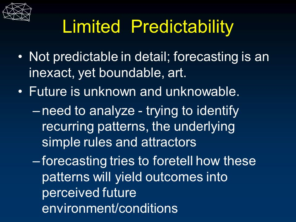 Limited Predictability