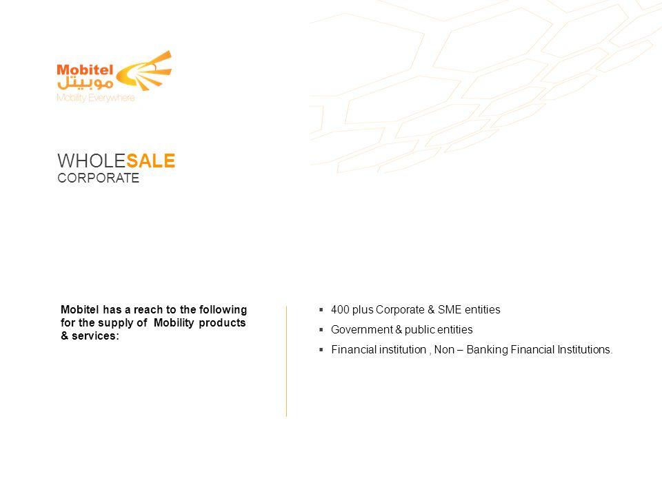WHOLESALE CORPORATE 400 plus Corporate & SME entities
