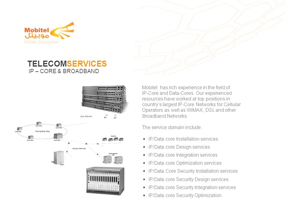 TELECOMSERVICES IP – CORE & BROADBAND