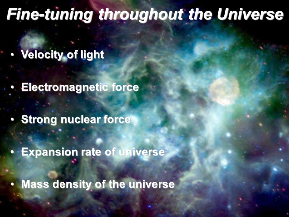 Fine-tuning throughout the Universe