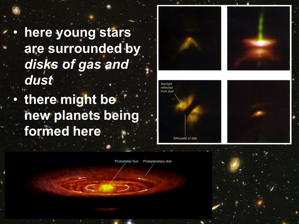 here young stars are surrounded by disks of gas and dust