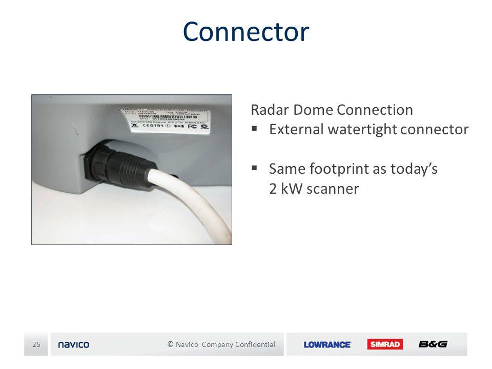 Connector Radar Dome Connection External watertight connector