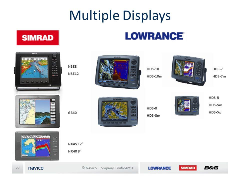 Multiple Displays NSE8 NSE12 HDS-10 HDS-10m HDS-7 HDS-7m HDS-5 HDS-5m