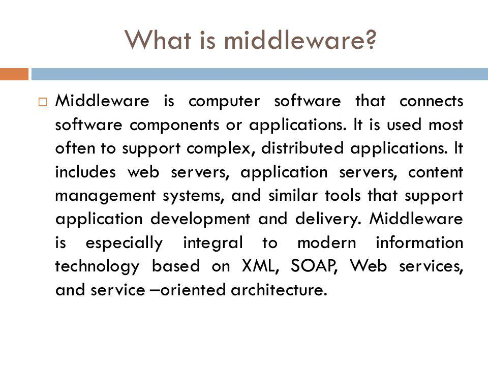 What is middleware