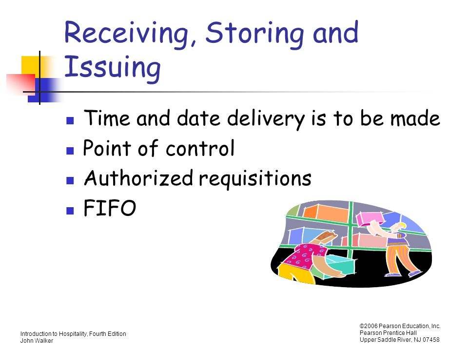Receiving, Storing and Issuing