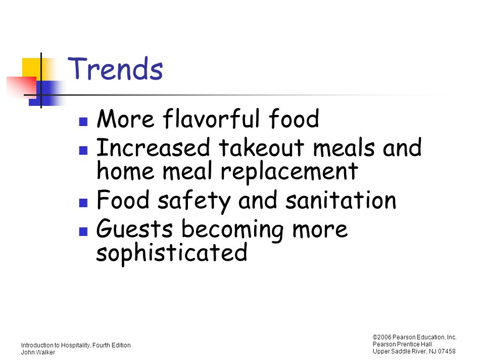 Trends More flavorful food