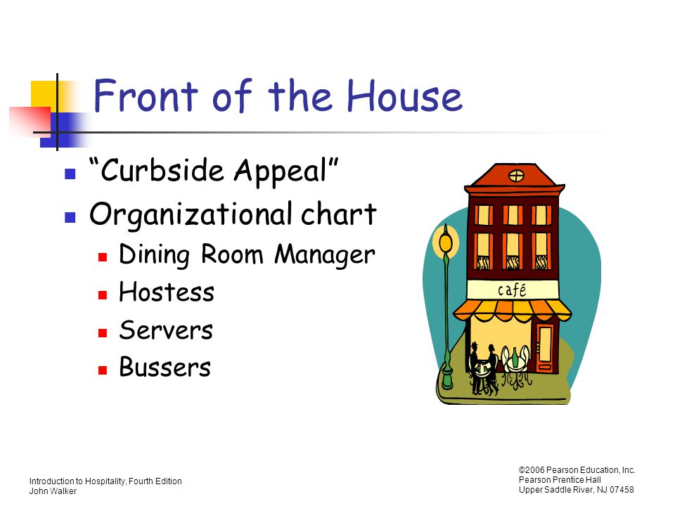 Front of the House Curbside Appeal Organizational chart