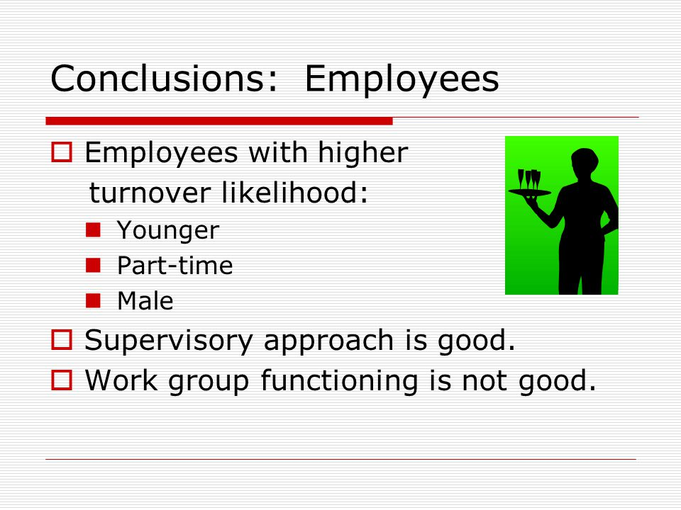 Conclusions: Employees
