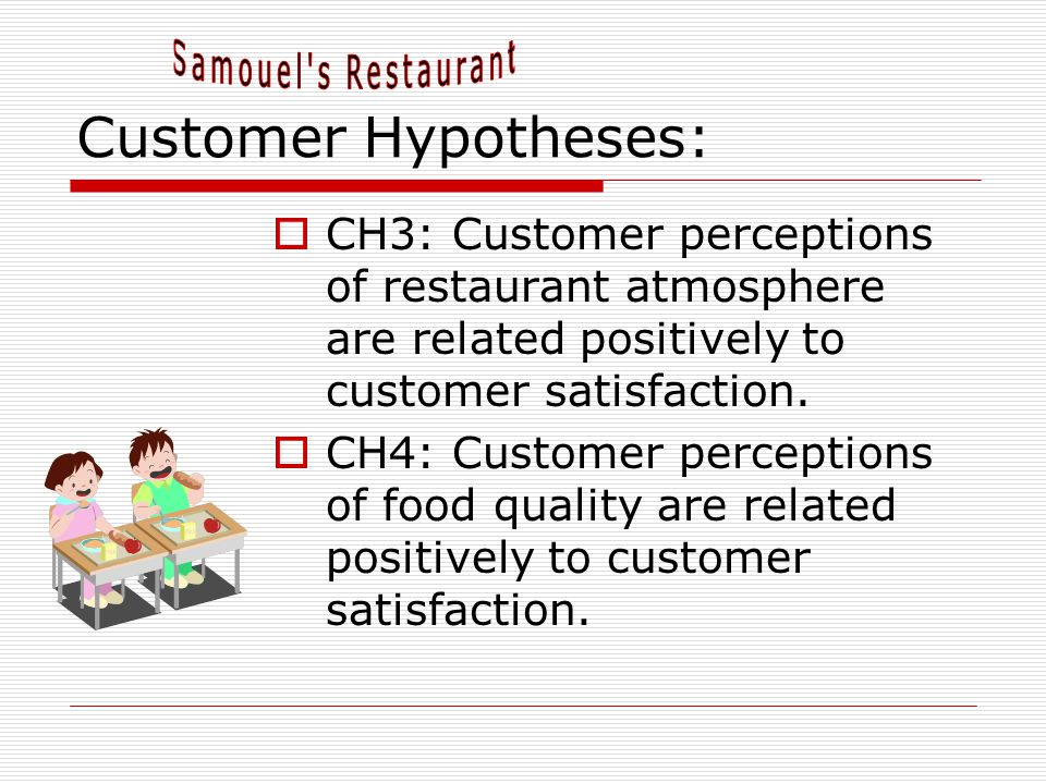 Customer Hypotheses: Samouel s Restaurant