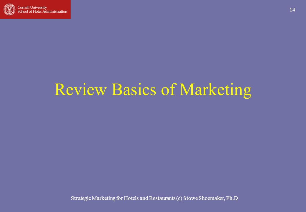 Review Basics of Marketing