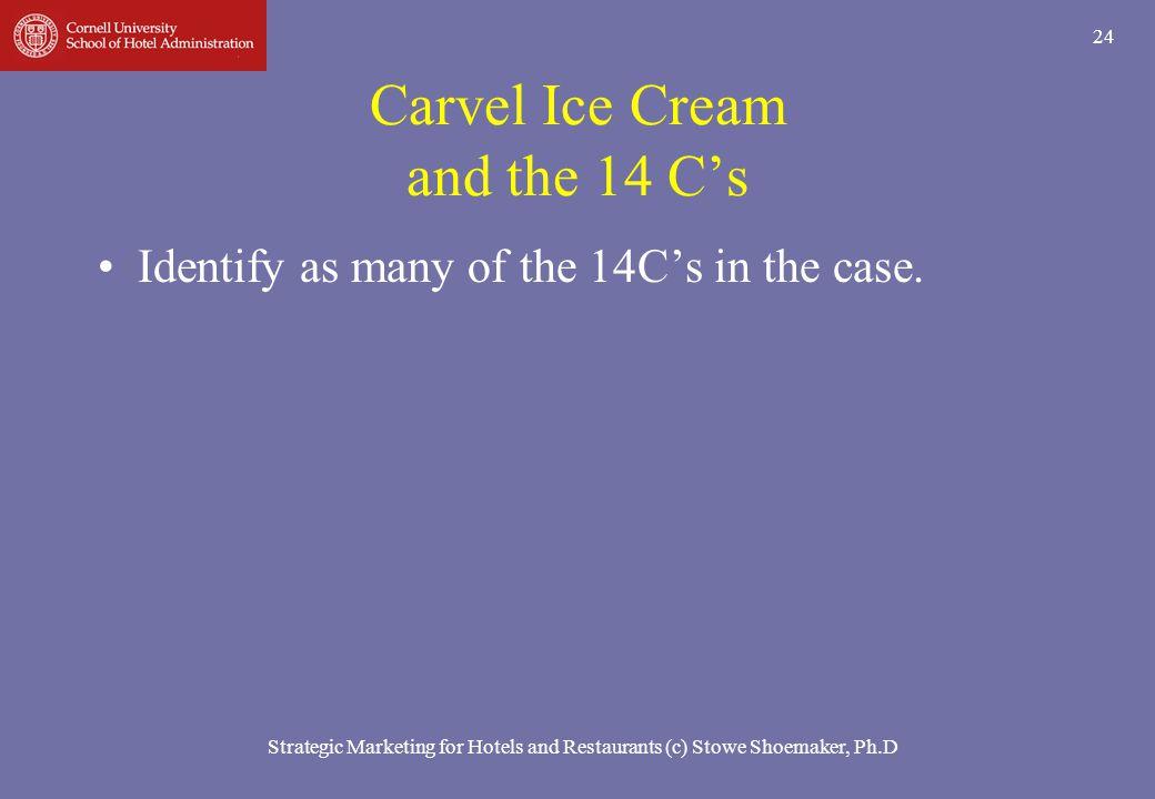 Carvel Ice Cream and the 14 C's