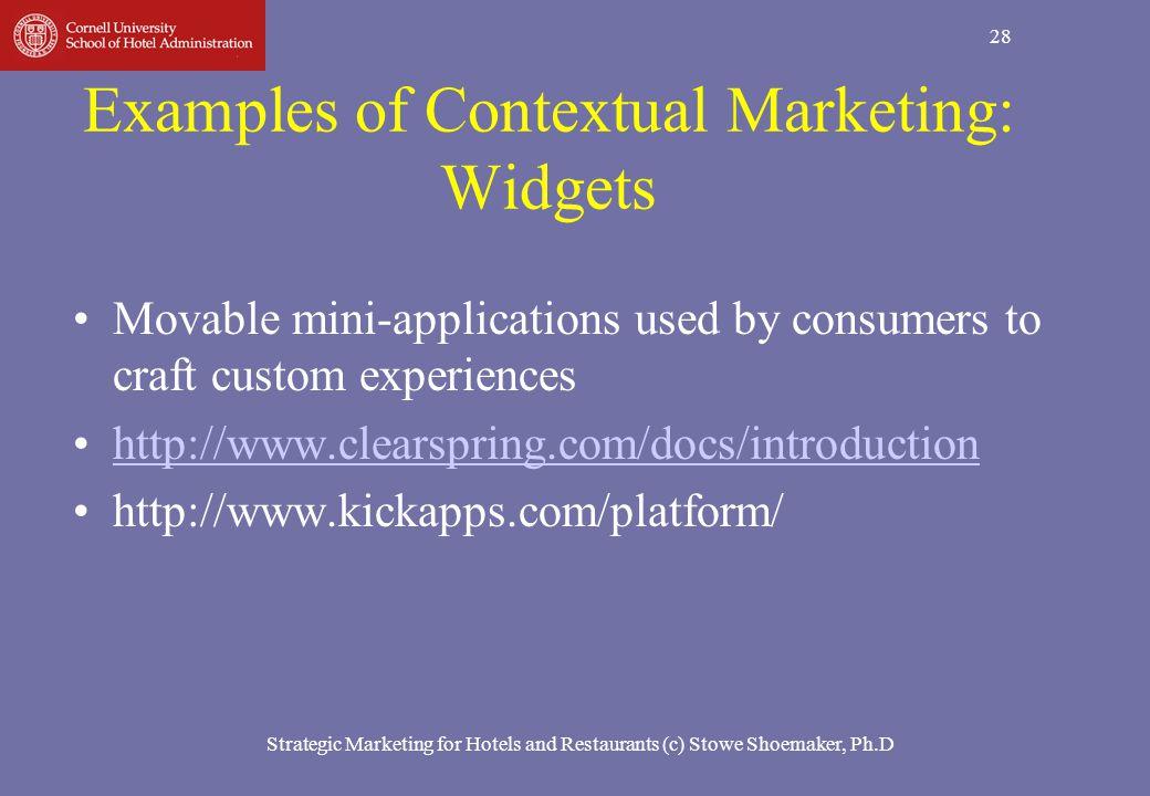 Examples of Contextual Marketing: Widgets