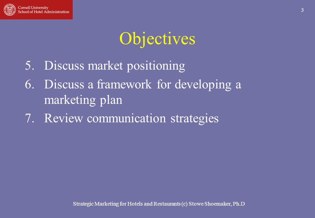 Objectives Discuss market positioning