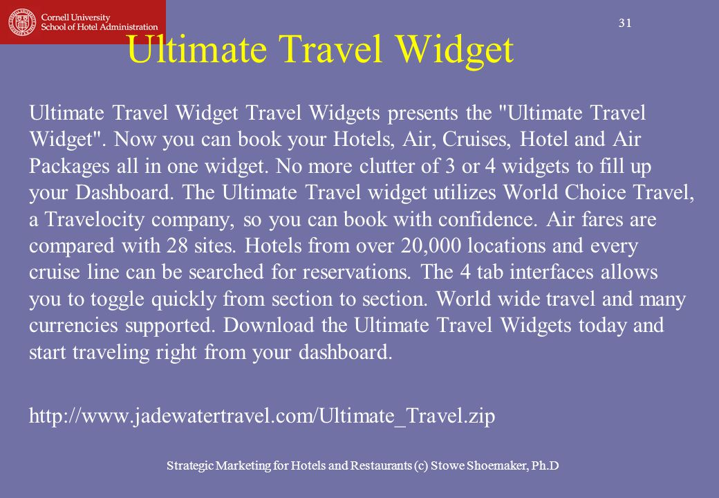 Ultimate Travel Widget