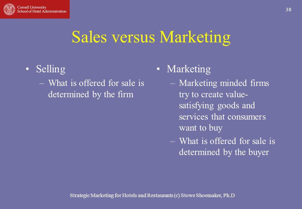 Sales versus Marketing