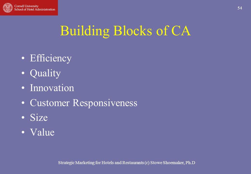 Building Blocks of CA Efficiency Quality Innovation