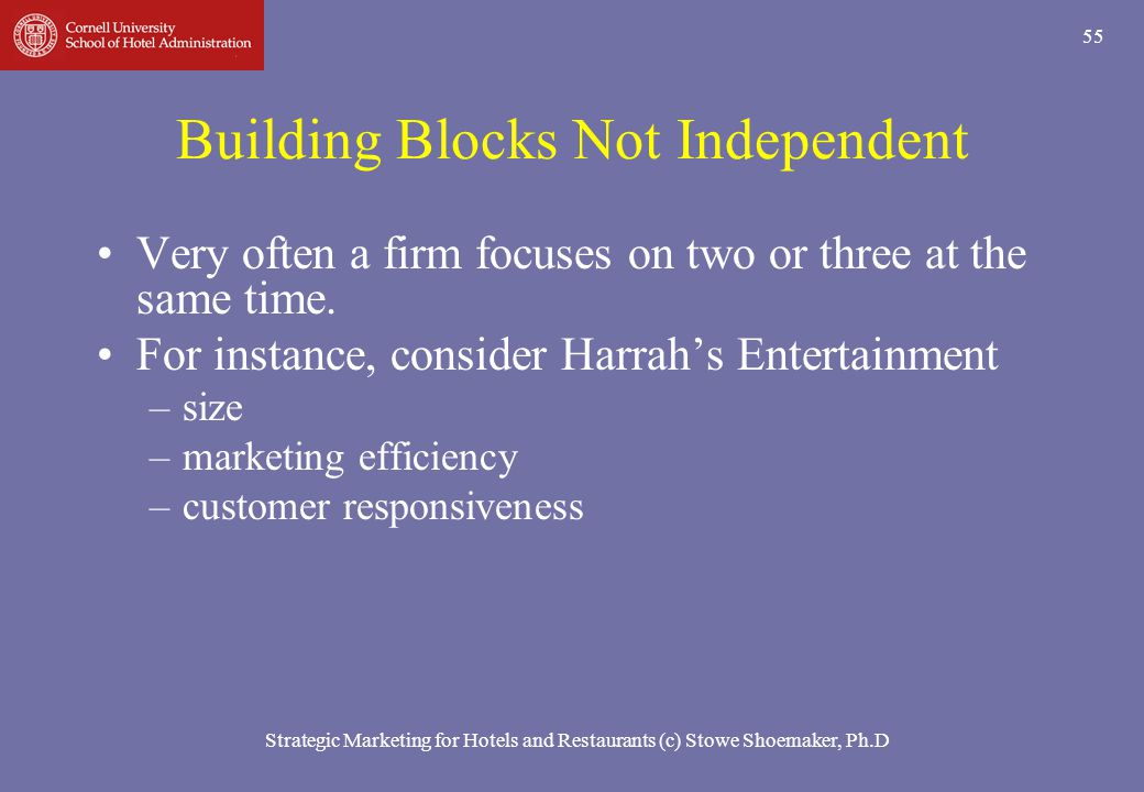 Building Blocks Not Independent