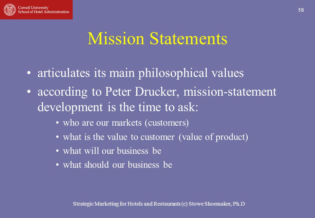 Mission Statements articulates its main philosophical values