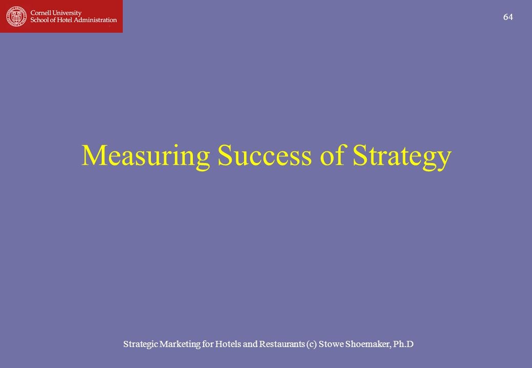 Measuring Success of Strategy