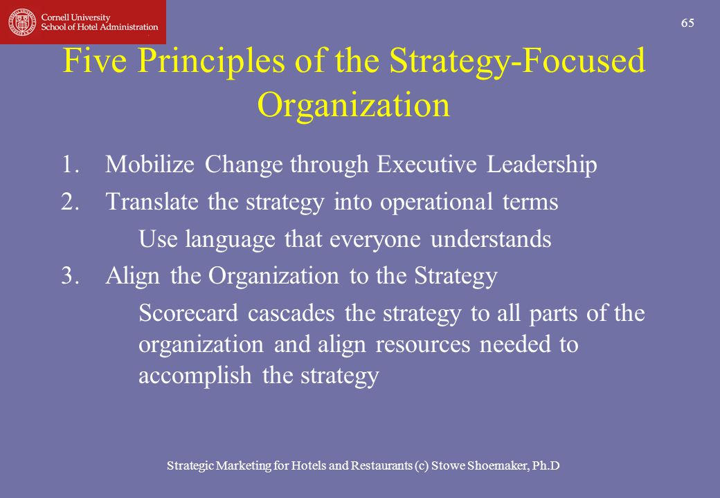 Five Principles of the Strategy-Focused Organization