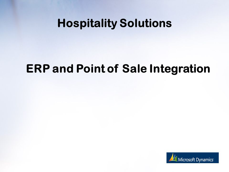 Hospitality Solutions ERP and Point of Sale Integration