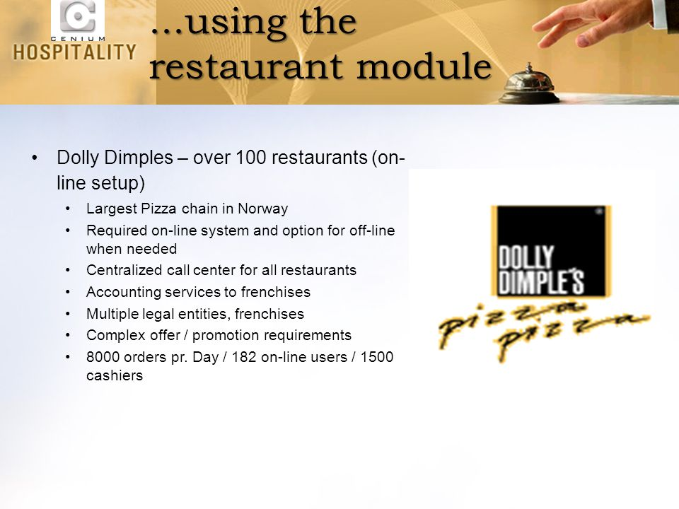 ...using the restaurant module