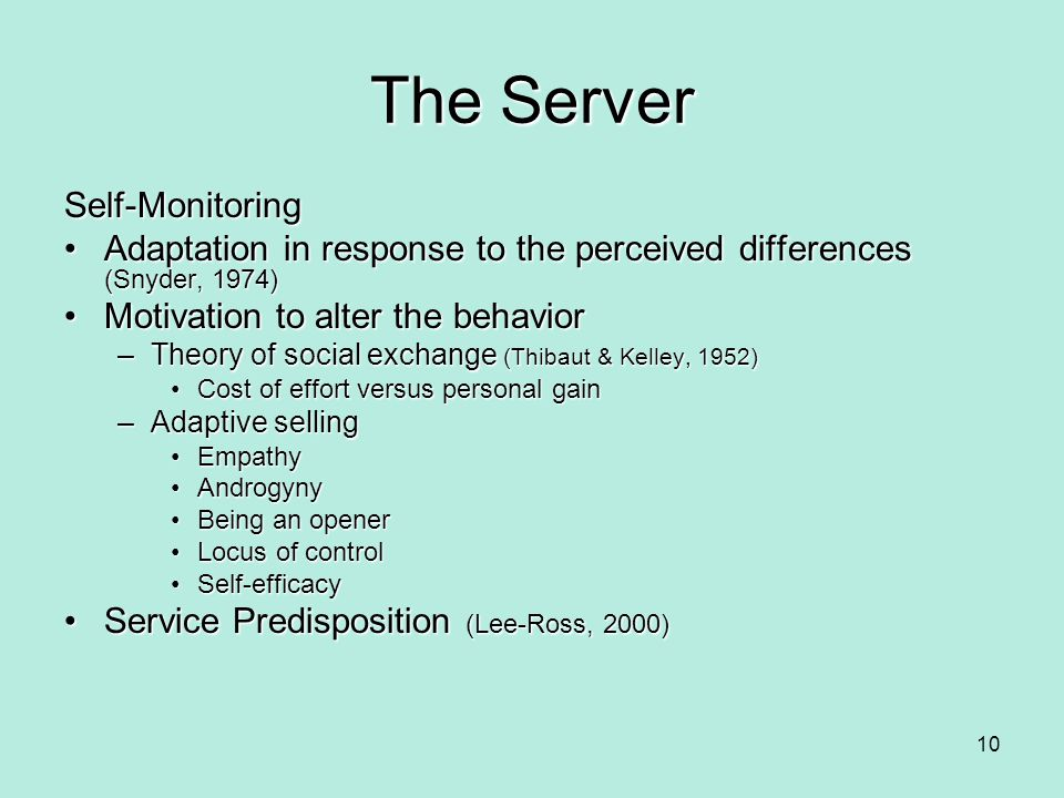 The Server Self-Monitoring