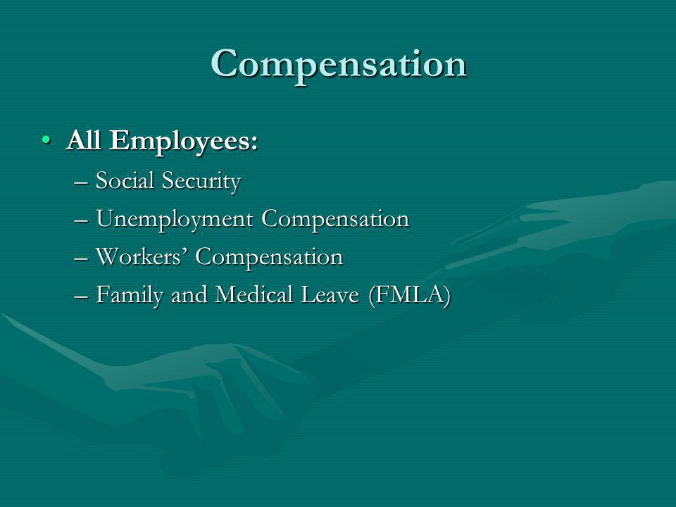 Compensation All Employees: Social Security Unemployment Compensation