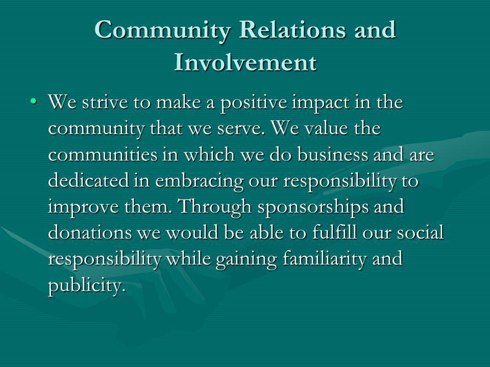 Community Relations and Involvement