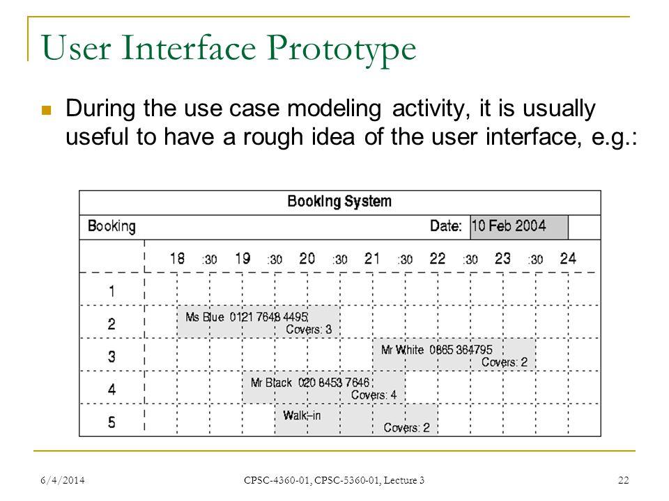User Interface Prototype