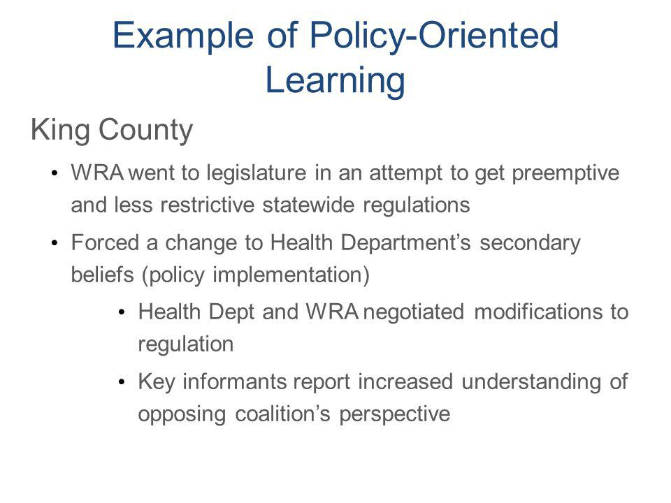 Example of Policy-Oriented Learning